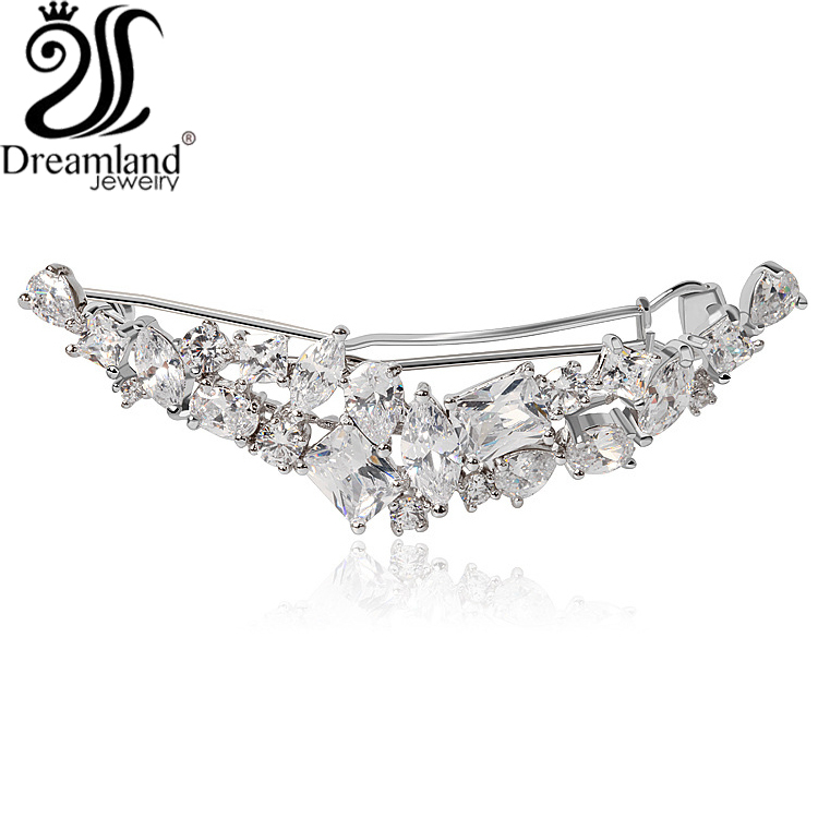 Fine jewelry Fashion hair accessories hairwear crystal zircon platinum Headbands hairpins New sale Free shipping H006(China (Mainland))