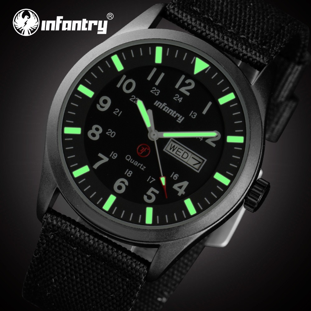 online get cheap most durable watches aliexpress com alibaba group infantry men quartz watches military ultra thin durable nylon 24hrs display wristwatch luminous sport watches relogio