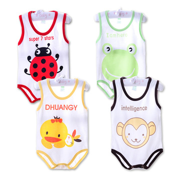 Children Pajamas Cotton Baby Bodysuits Newborn Jumpsuits Boys Girls Summer Baby Climbing Clothing Jumpsuit Animal Bodysuits