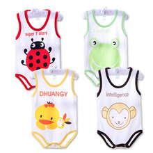Children Pajamas Cotton Baby Bodysuits Newborn Jumpsuits Boys Girls Summer Baby Climbing Clothing Jumpsuit Animal Bodysuits(China (Mainland))