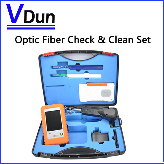 Optic Fiber Check Clean Set VD-FC1 With inspection Video microscope inspection probe 1.25/2.5 mm Cleaner Pen Cleaner box(China (Mainland))