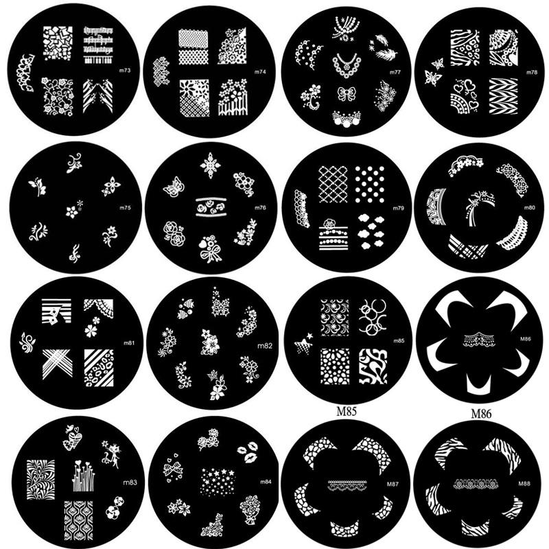 1pc Nail Nail Polish designs transfer supplies wholesale printing templates printing plate machine tool(China (Mainland))
