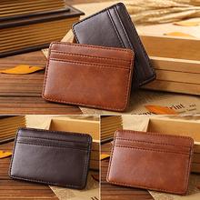 Men's Fashion Magic Faux Leather Slim Wallet Money Clip Purse(China (Mainland))