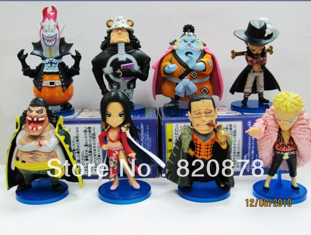 Figure Garage Kit The 27 generation ONE PIECE Q version 8PC/lot