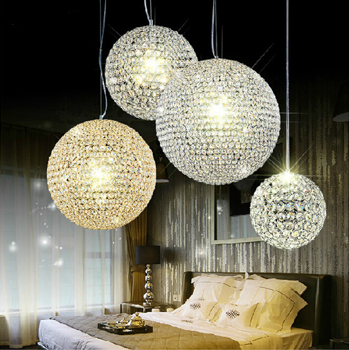 k9 crystal chandelier bedroom modern minimalist luxury hotel restaurant bar ball crystal. Black Bedroom Furniture Sets. Home Design Ideas