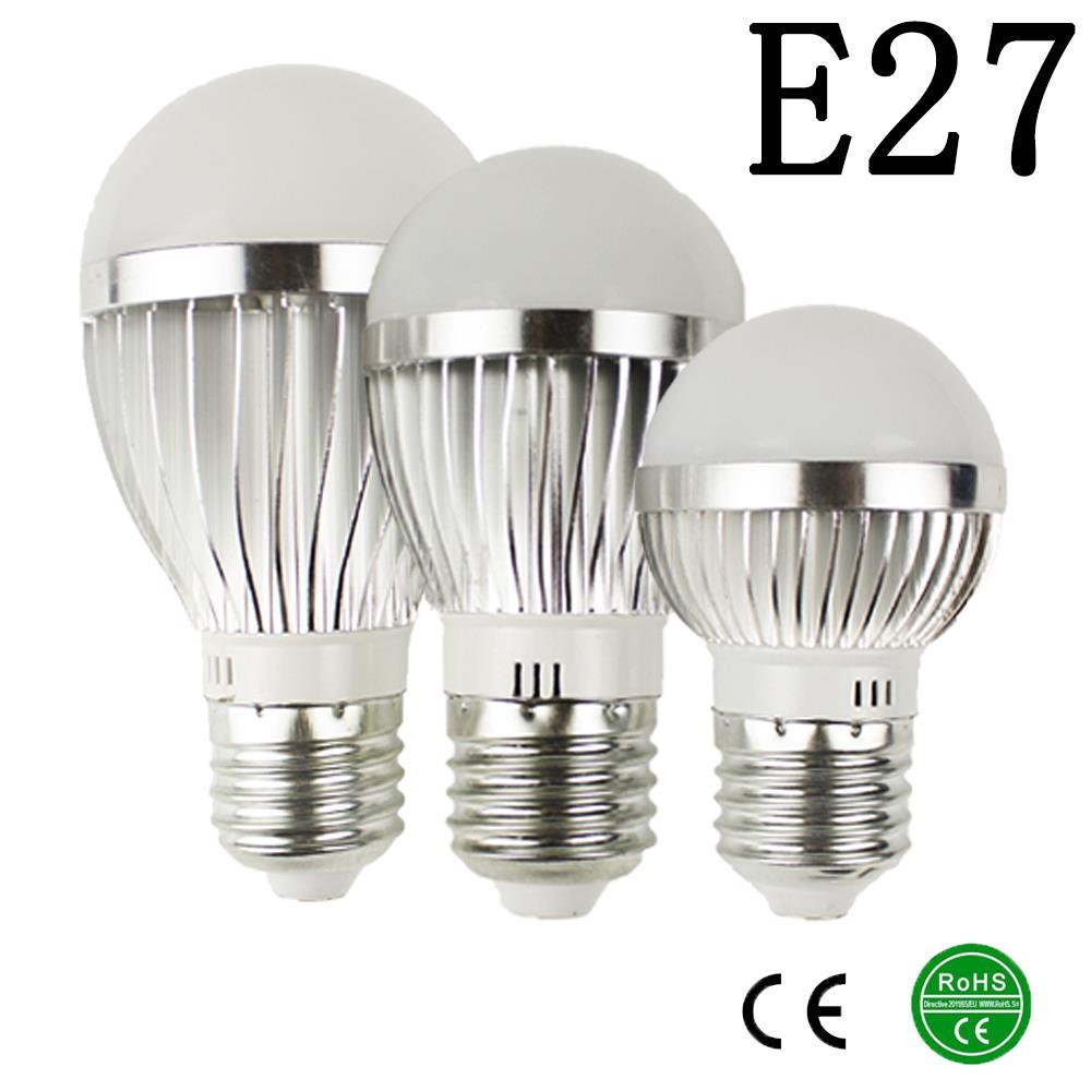 E27 LED lamp IC 10W 15W 25W LED Lights Led Bulb bulb light lighting high brighness Silver metal(China (Mainland))