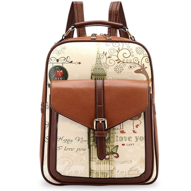 Hoge kwaliteit pu leren rugzak schooltassen voor tieners rugzakken school meisje kleine stacy - Kantoor voor een klein meisje ...