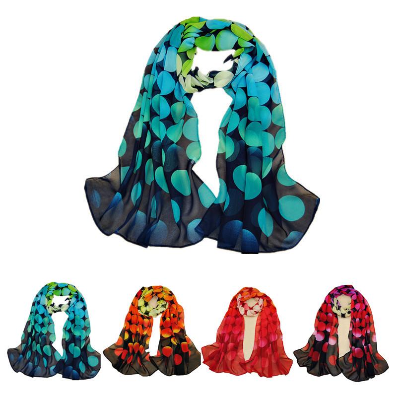 scarf silk scarves dots printed designer scarf