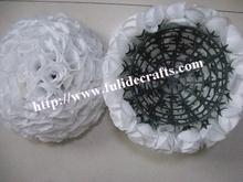50cm 2pcs/lot WHITE rose ball wedding flower ball decoraiton(China (Mainland))