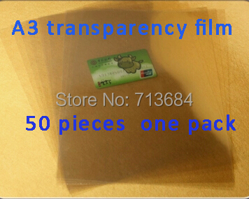 A3 Inkjet&Laser Transparency Film in Screen Printing plate making screen press 50 sheets(China (Mainland))