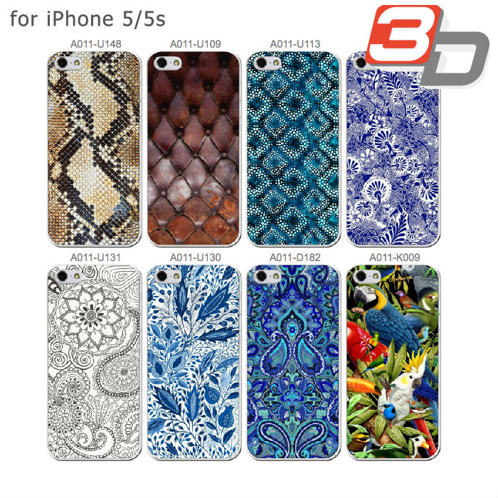 3D Snake Skin Mandala Flower Leather Texture Print Plastic Custom PC Cover Cell Phone Case Apple iPhone 5s 5 A011+G04 - GENIX DEPOT SUPERMARKET FOR GIFTS AND CUSTOMIZED ITEMS store
