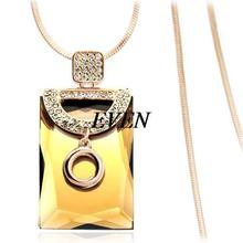Newest Gorgeous Decoration Necklace Fashion Luxury Jewelry Female Gift Crystal Long Sweater Necklaces Pendants For Women