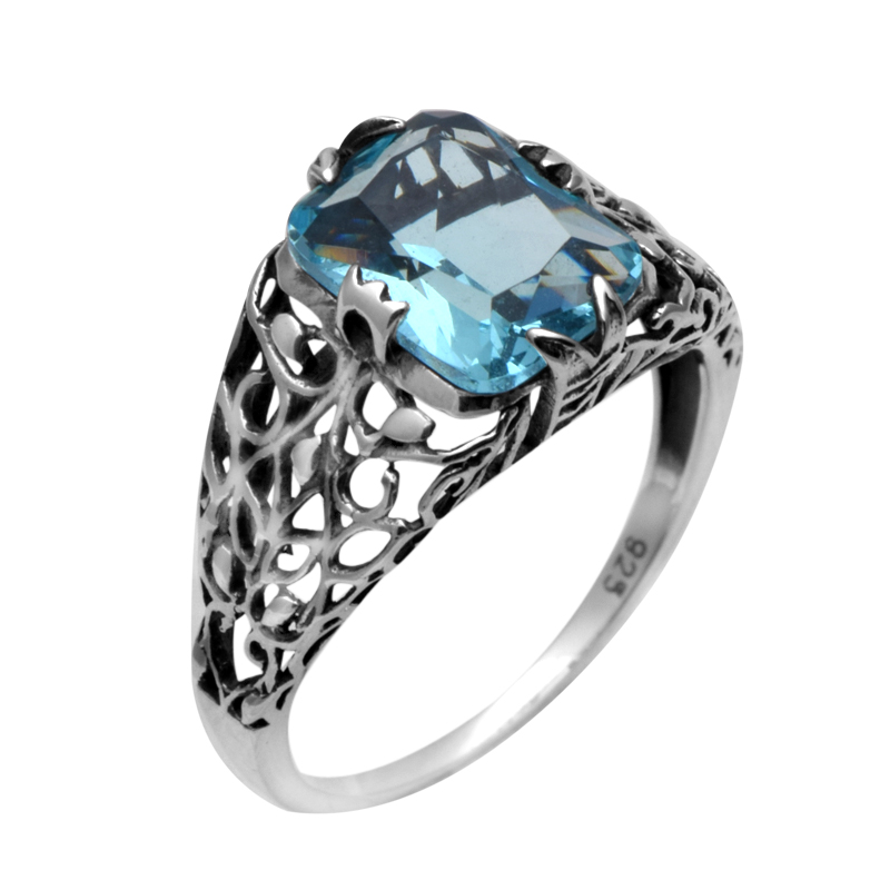 blue processing custom 925 sterling silver jewelry antique