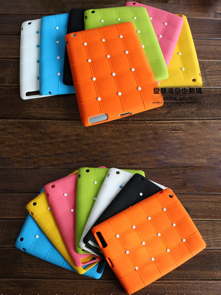 NEW Silicon case for ipad 3 ; Cute silicon case for ipad 2 and 3 ; free shipping ;<br><br>Aliexpress