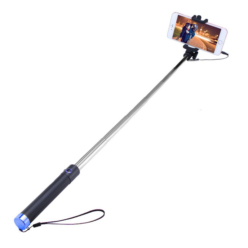 image for Luxury Extendable Folding Wired Selfie Stick Monopod For Samsung LG An