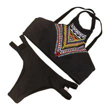 2017 Brazilian Plus Size XL High Neck Bikini Swimwear Sexy Summer Beach Women Low Waist Triangle Swimsuit Bathing Suit GI-1005(China (Mainland))