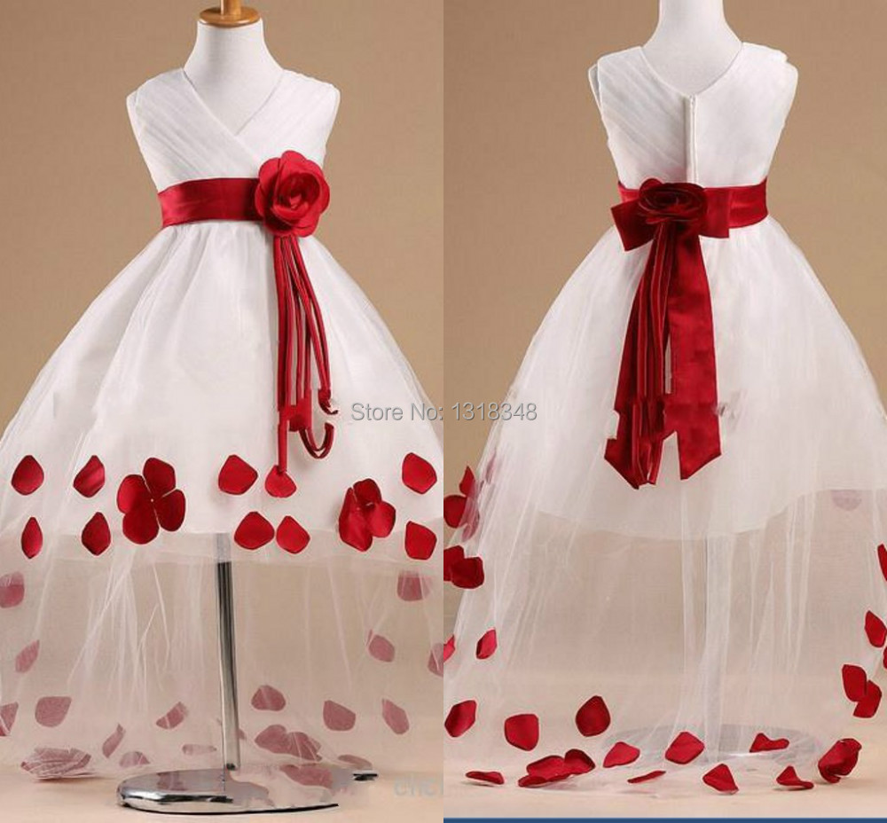 flower girl dresses white and red wedding dresses in jax