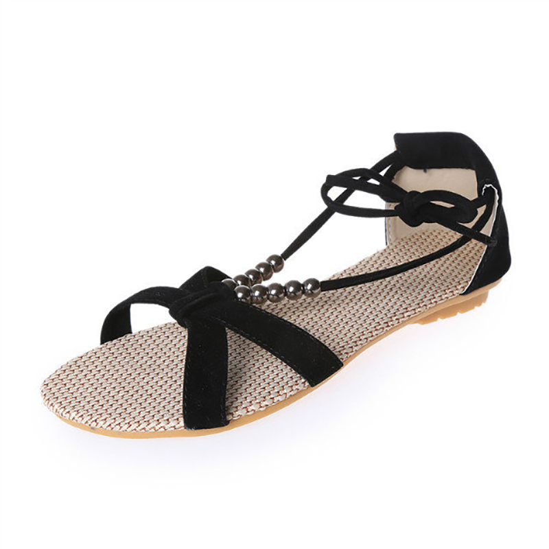 Each summer, you will buy yourself a pair of good-looking sandals with high heel. For summer , why don't you take a change? The trend of flat sandals is coming! Flat sandals are attractive and they are comfortable to wear, too. More and more women like flats, because they are healthy. With a.
