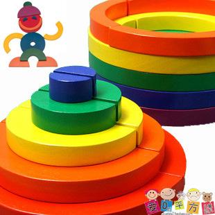 Toys Model Building Kits Assembly blocks Kids Toys Diy 3d Puzzle Rainbow puzzle Educational Puzzle Book blocks CCF0709<br><br>Aliexpress