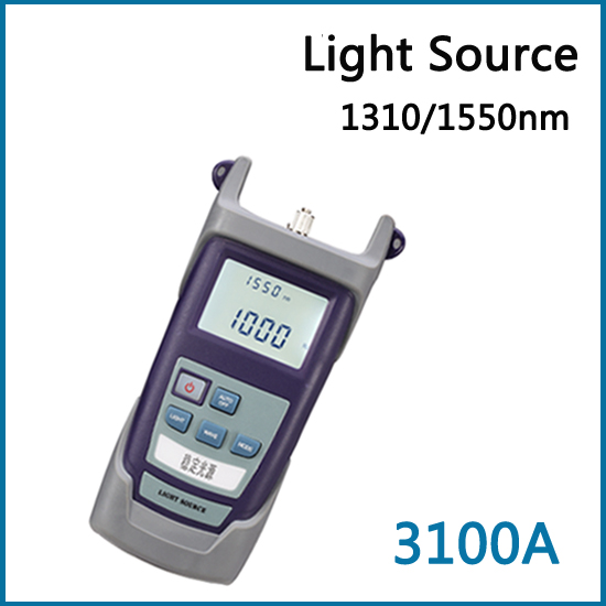 Handheld Single Mode SM 1310/1550nm Optical Laser Light Source DPT-3100A Used in Fiber Optic Network FTTx / FTTH & CATV(China (Mainland))