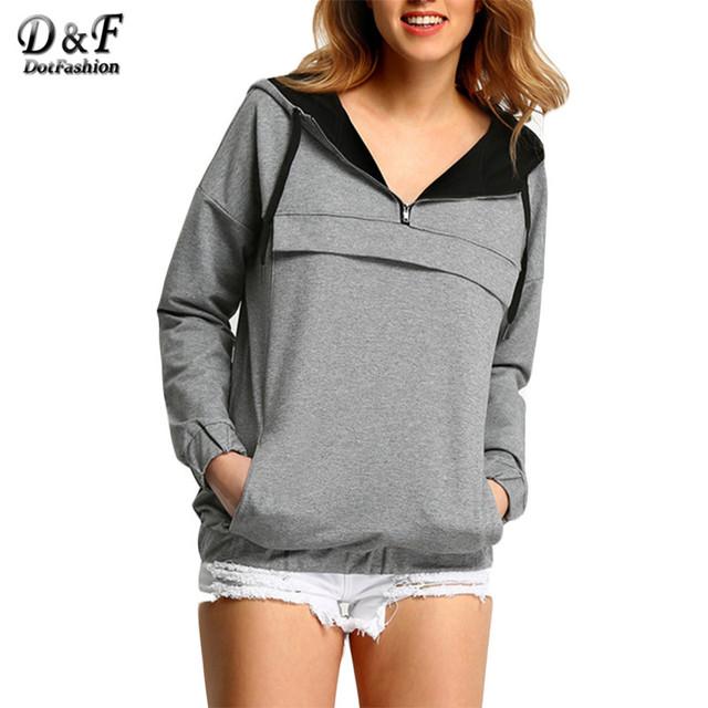 DotМодный женщин новое поступление пуловеры 2016 весна мода горячая топ свободного ...