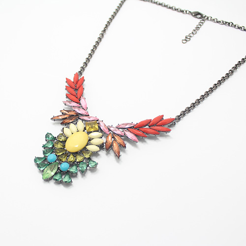 COL153 Elegant Flowers Statement Chorker Necklaces for Woman Fashion Jewelry Retail Dropshipping Candy Summer Discount(China (Mainland))
