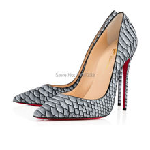 Isastyle women pumps 2016 new fashion  lines of fish scale women shoes sexy high heel pumps super star style big size 4-15(China (Mainland))