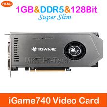 Superschlank für bunte igame740 1GB DDR5 128 Bit 3d-spiele computer placa de video-grafikkarte grafikkarte für nvidia(China (Mainland))