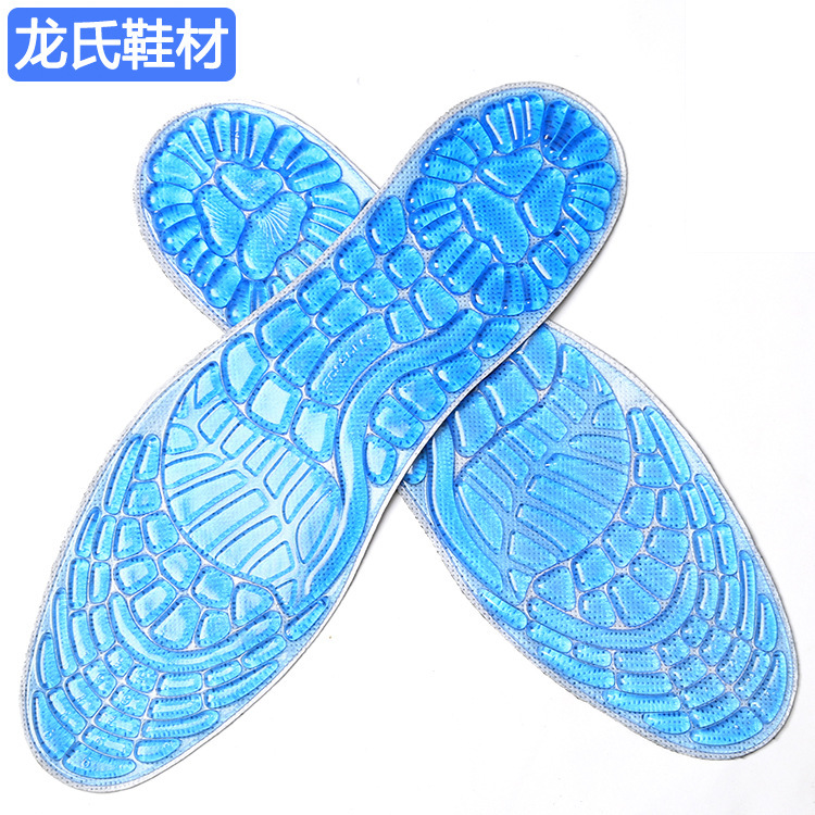 Гаджет  Sports insoles for male & female Buffer Damping Soft silicone cushion Military Training high Quality outdoor insole None Обувь