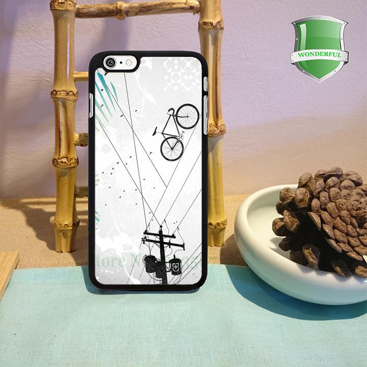 Bike Line original black cell phone case for iphone 4 4s 5 5s 5c 6 6 plus W-116(China (Mainland))