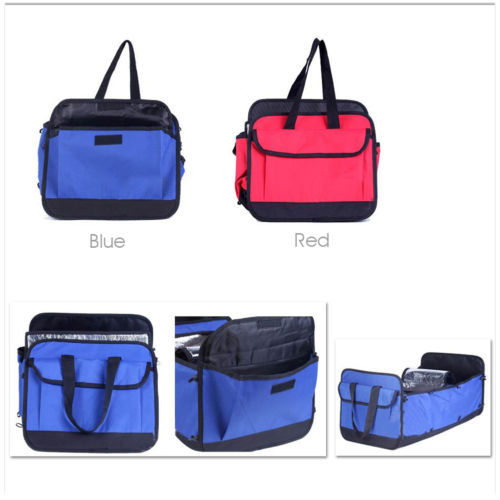 Red /Blue AUTO Car Truck Insulated Food Storage Container Cargo Organizer Foldable Bag Sundries Box Case(China (Mainland))