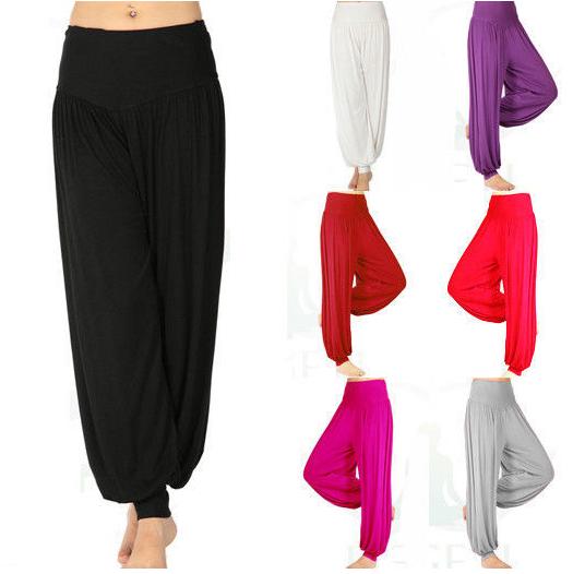 26b9e5dcfe4 M -XXL plus size High waist Women Harem Modal Dancing Trouser autumn winter  Loose overall Wide women sport yoga pants women