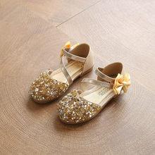 ฤดูใบไม้ผลิใหม่เด็กสบายๆรองเท้าหนัง Princess ส้นแบนรองเท้าแฟชั่นเลื่อมมุกรองเท้าเด็กสำหรับสา...(China)