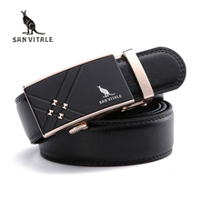 Buy SAN VITALE Men's Belts Hot Fashion Split Leather Cowskin Belt Designer Luxury Famous High Automatic Buckle Male Strap for $10.06 in AliExpress store