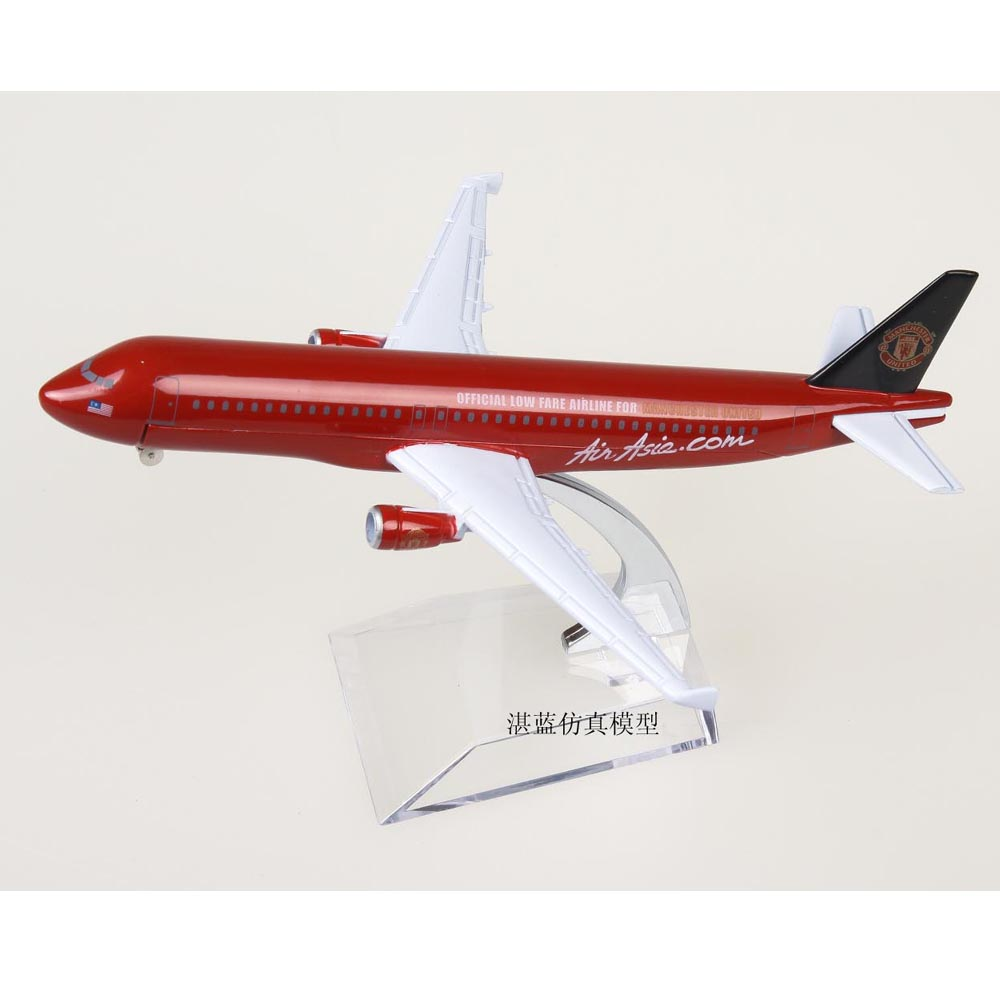 Brand New 1/200 Scale AirAsia Limited Version Airbus A320 Airplane 16cm Length Diecast Metal Plane Model Toy For Gift/Collection(China (Mainland))