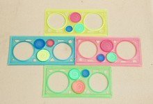 WESON 1pcs New Spirograph Ruler Puzzle Creative Funny Gift Stationery Give The Best Gift For Children(China (Mainland))