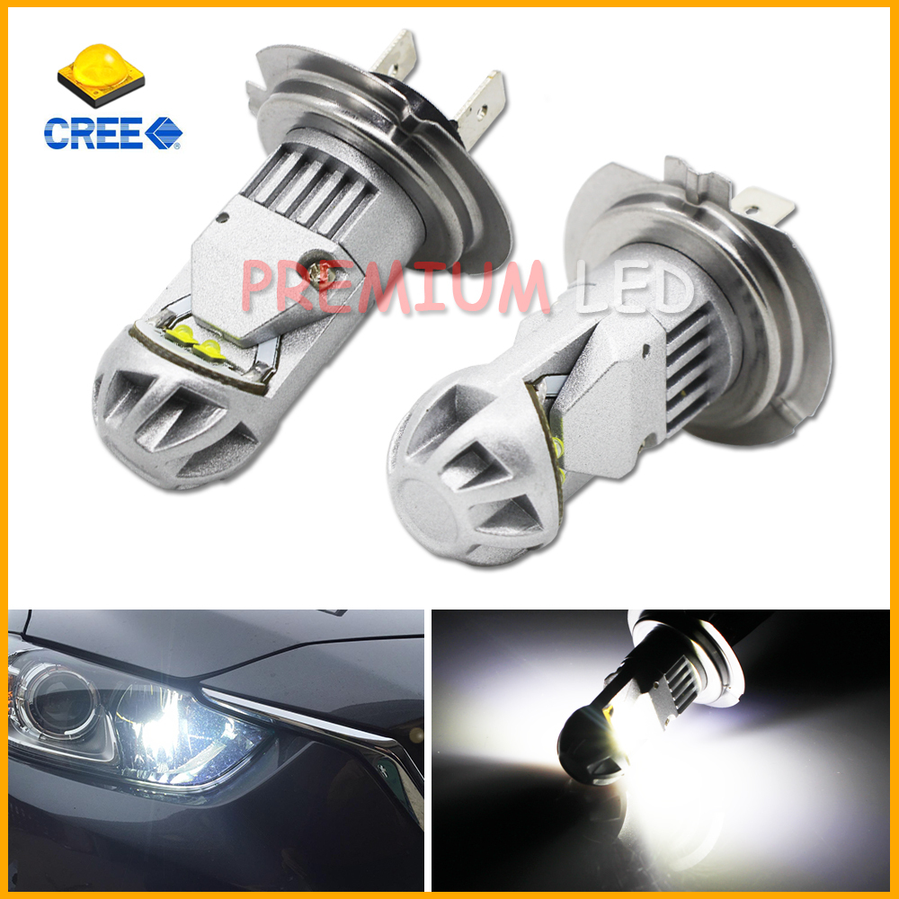 2pcs Max 20W High Power CREE Type H7 LED Bulbs For Hyundai Genesis Sonata Veloster Accent on High Beam Daytime Running Lights(China (Mainland))