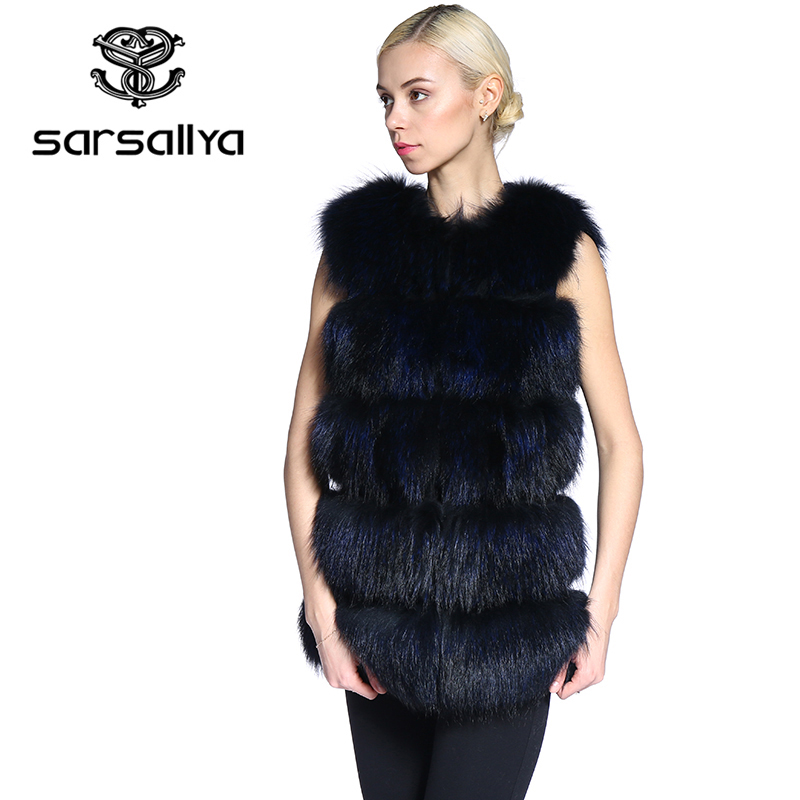SARSALLYA real fur vestNew Fashion Winter Lady Natural Raccoon Fur Vest Women's Real Genuine Fur Leather Jacket Overcoat(China (Mainland))