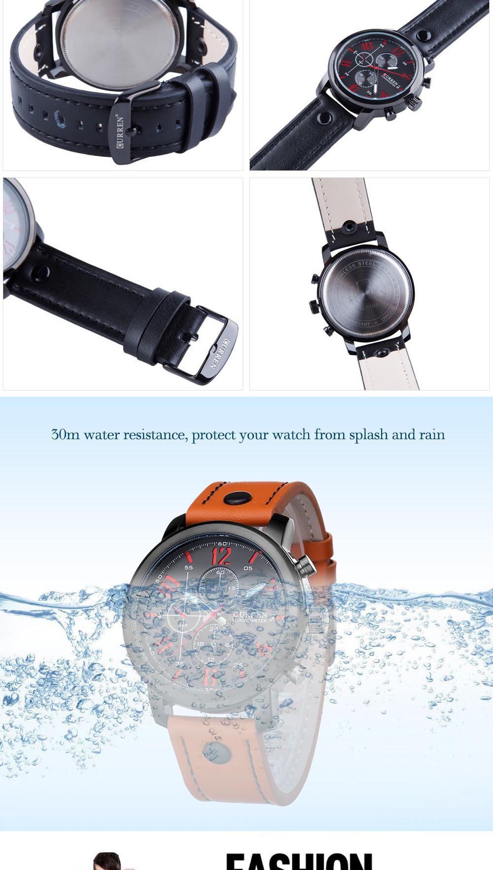 2016 CURREN Guys Watches Luxury Informal Guys Watches Analog Defense force Activities Watch Quartz Male Wristwatches Relogio Masculino (5)