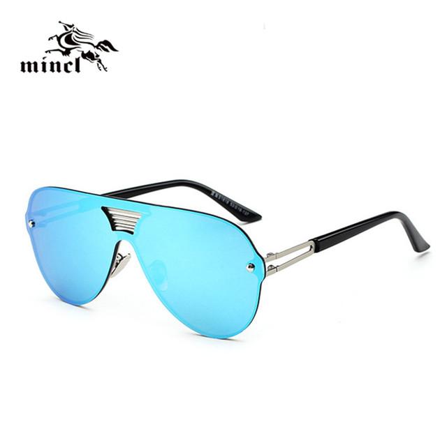 Mincl/Мода вождения многоцветной Зеркало очки солнцезащитные очки женщины Vintage ...