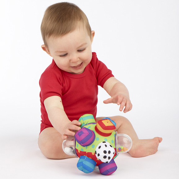 Candice guo! Sassy baby toy plush grasping ball colorful multi-touch ball rattle birthday gift 1pc(China (Mainland))