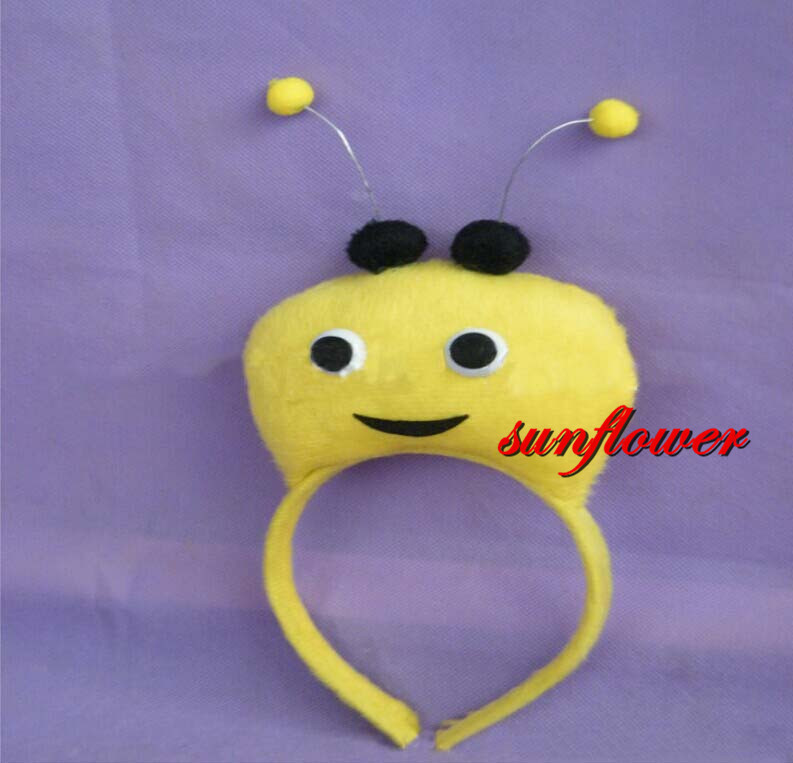 Childrens Adult 3D Antenna Fly Bee Headband Animal Head Band Birthday Party Hallowmas Prop(China (Mainland))