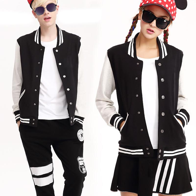 Lovers' clothes 2016 autumn jacket women coat fleece unisex baseball jacket women student clothing casual Baseball uniform(China (Mainland))