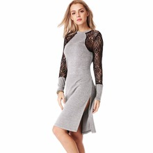 Buy Elegant Sexy Long Sleeve Women T Shirt Dress Female Lady Tunic Clothing Clothes Spring Vestidos Vestido De Festa Robe Femme 2016 for $10.59 in AliExpress store