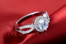 S925 luxury wedding ring platinum plated simulate diamond jewelry fashion round engagement bague for women accessories