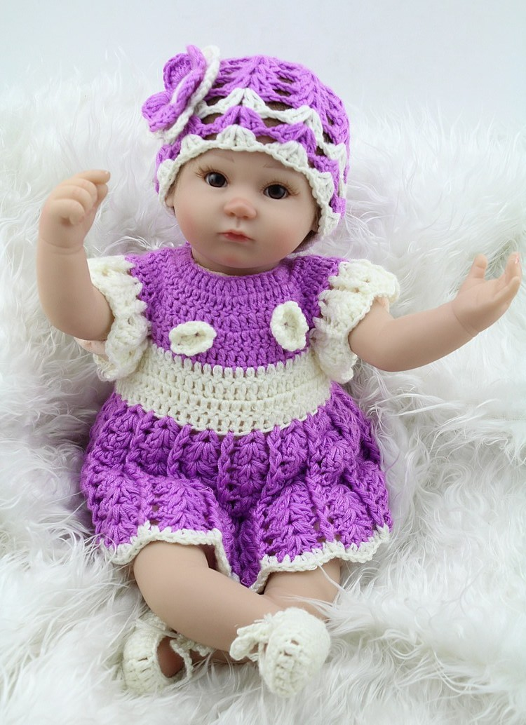 17 Inch 42 cm Soft Silicone Baby Reborn Doll Real Vinyl Lifelike Interactive Babies Dolls Toys For Women Adoption(China (Mainland))
