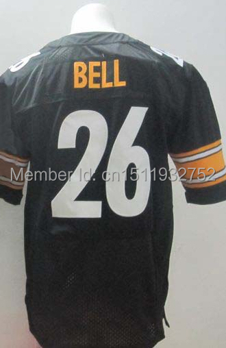 #26 Le'Veon Bell Jersey,Cheap American Football Jersey Elite Authentic Jersey Stitched Logo Embroidery Sport Jersey(China (Mainland))
