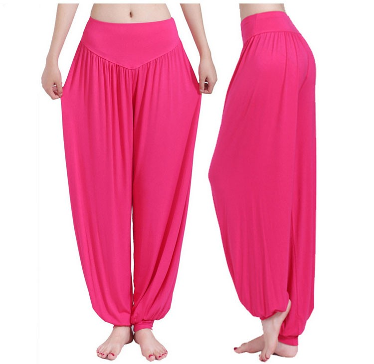 Yoga Pants Women Plus Size Colorful Bloomers Dance Yoga TaiChi Full Length Pants Smooth No Shrink Antistatic Pants Fast Shipping 2015 000
