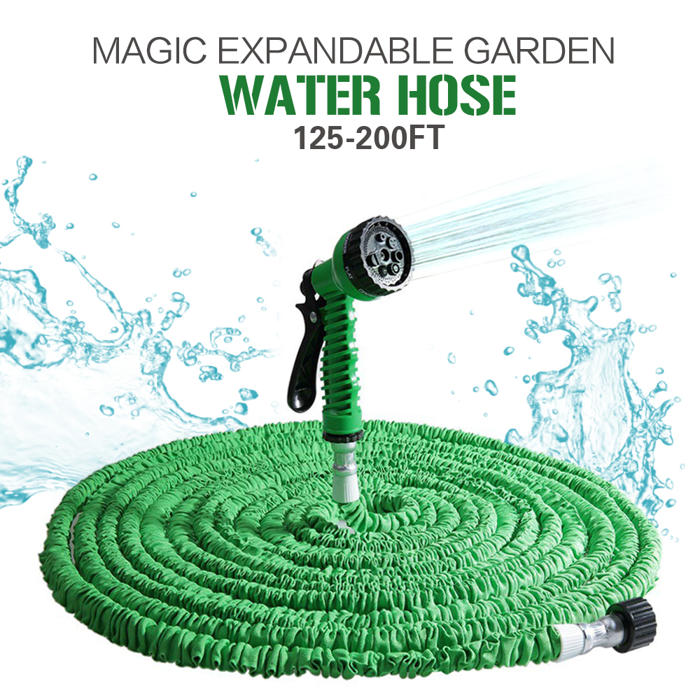 2016 Extensible Magic Flexible Garden Water Tube Hose 100FT For Drip Irrigation Car Watering With Spray Perfect Match Gun Green(China (Mainland))
