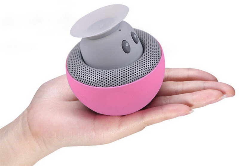 Mushroom Mini Wireless Bluetooth Speaker Hands Free Sucker Cup Audio Receiver Music Stereo Subwoofer USB For Android IOS PC 1072(China (Mainland))